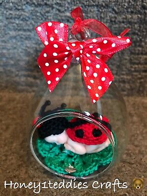 Ladybug Clay Baby In bauble