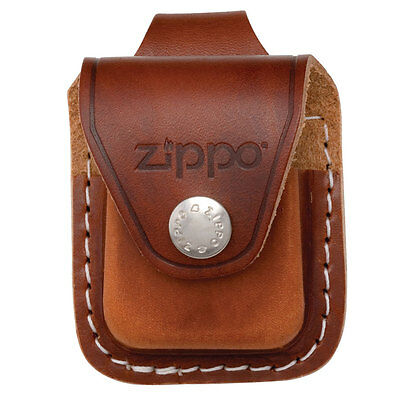 Zippo Lighter Pouch Brown With Loop LPLB Free Shipping On Belt Pocket New
