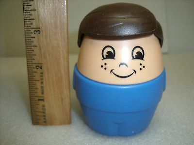 Little Tikes Step2 Large Chunky tottle tot People Brown Hair boy figure
