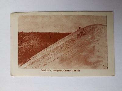 Postcard Fold Out Map Sand Hills Houghton Ontario Canada Advertising