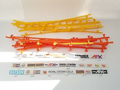 AURORA Afx Guard Rail 24 PCS 14'' Slot Car Scale ho