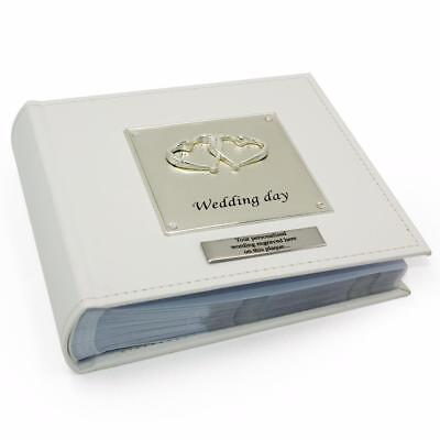 Wedding Day Entwined Heart Photo Personalised Album 77125-P