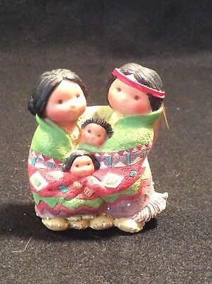 """17A Enesco Friends of the Feather Figurine """"People Of One Feather"""""""