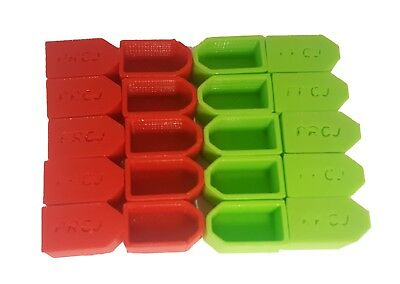 XT60 lipo caps Charged / Discharged Green/Red 10 of each PRCJ Flexible