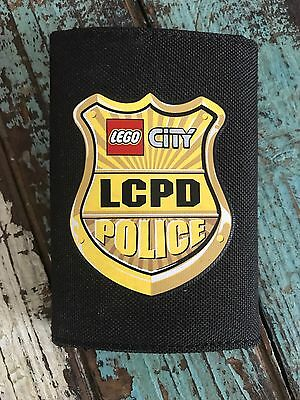 "NEW LEGO City Police Boys Wallet Keychain ""We Have It"" 10-15 Black Badge LCPD"