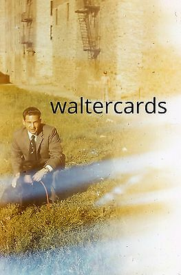 KODACHROME Red Border Slide 1950s Handsome Man Suit Double Exposure ? Sunburst