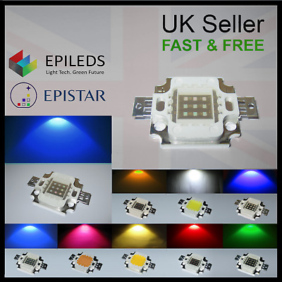 10W Epistar Epileds High Power LED Chip 12V SMD COB Aquarium Grow Light Bulb DIY