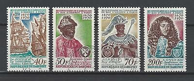 Dahomey 1970 Sc#271-4  Mission From King of Ardres,300th Anniv  CTO OG NH Set
