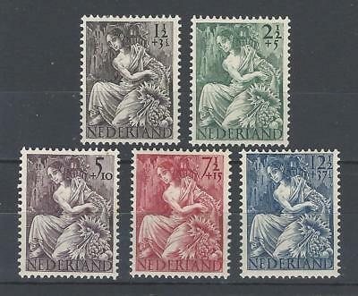 Netherlands 1946 Sc B159-63 Fortuna-For Victims of WW II  MH Set