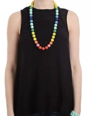 'Christopher' Teether Necklace CHEWBEADS Rainbow Necklace