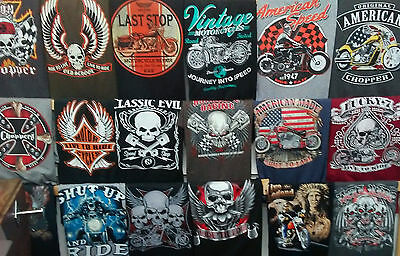 Wholesale LOT of BIG SIZE motorcycle-biker tee's short or long sleeve