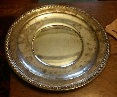 """WALLACE Sterling Silver 12"""" Charger/Platter- 476.8 grams"""