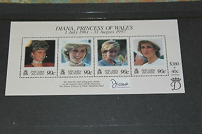 Pitcairn Islands 1997  Diana ,princess Of Wales Minature Sheet   Very Fine M/n/h