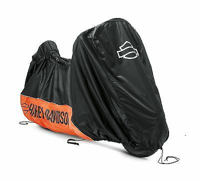Harley-Davidson Genuine Indoor Motorcycle Cover - Orange/Black 93100018 Dustcove