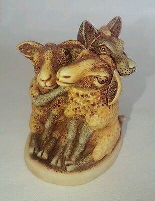 Harmony Kingdom Mutton Chops Sheep & Wolf Trinket Box Figurine