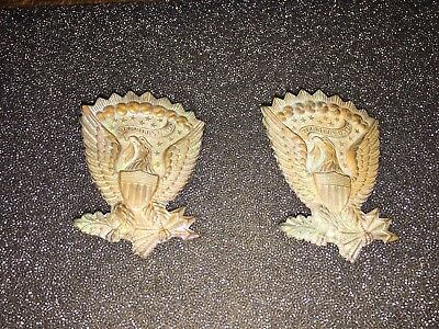 1 ORIGINAL Civil War Union Federal Jeff Davis Hardee Eagle Insignia