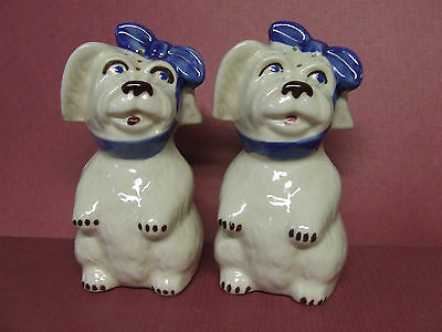 "Vintage Shawnee Pottery Mugsy ""Tooth Ache"" Dog Salt & Pepper Shakers (Large)"