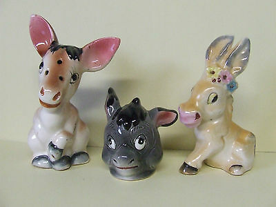 Vintage Donkey/Mules/Asses Shakers (3 singles)