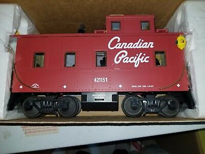 Aristocraft  G scale Canadian Pacific Steel long Caboose  RD # 421151