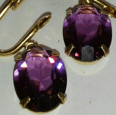 1/20 12kt gold filled Amethyst Earrings
