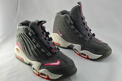 Nike Air Griffey Max II Leather Suede 5.5Y Gray Pink Sneakers Hi Top Shoes