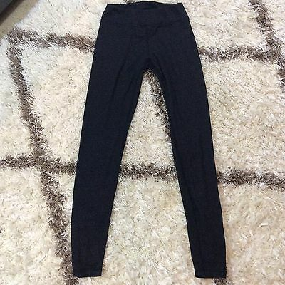 Womens Juniors BRANDY MELVILLE Marled Black Gray Knit Leggings One Size