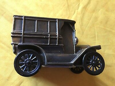 Banthrico 1974 Made 1915 Ford Cast Iron Collectors Car Bank