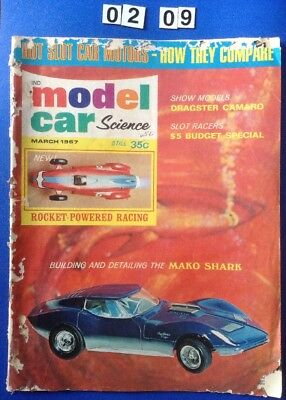 Model Car & Science Magazine March 1967. 60 Pages. Slot Cars. Corvette, Camaro.