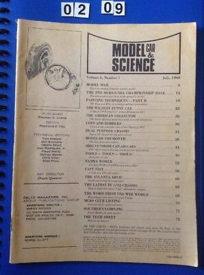 Model Car & Science Magazine July 1968. 76 Pages. Slot Cars. Front Cover Missing