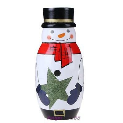 Wooden Matryoshka Dolls 5 Layer Christmas Snowman Santa Claus Picture Gift