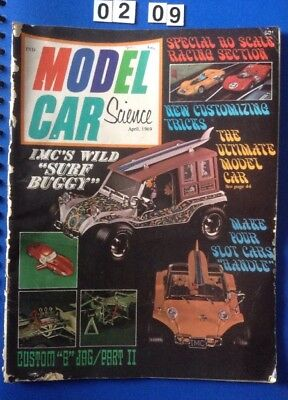 Model Car & Science Magazine April 1969 68 Pages. Slot Cars, Beverly Hillbillies