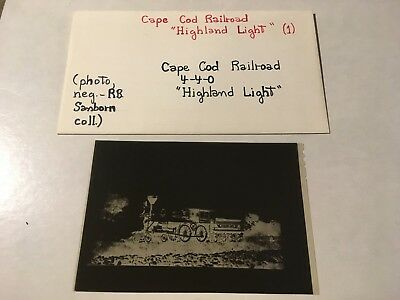 Vintage Film Negative Cape Cod Railroad loco Highland Light