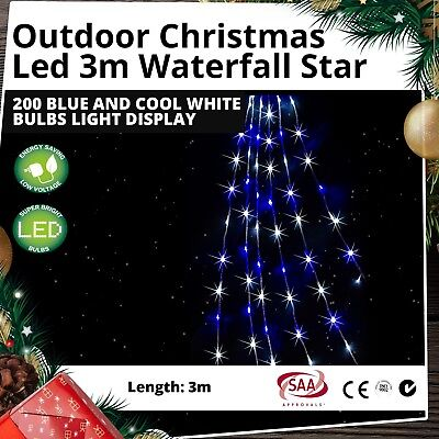 Christmas Lights Solar LED Xmas 8PC Outdoor Candy Canes Glow Cool White Flashing