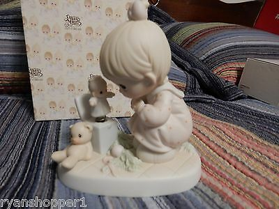 """Precious Moment's Figurine """" Just Poppin in to Say Hello"""" With box 1994"""