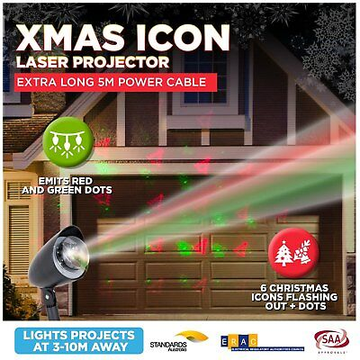Laser Projector Pattern Christmas Lights LED Outdoor Solar Weatherproof Change