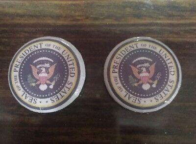 NEW! Donald Trump 2 Button Pins Presidential Seal Make America Great Again 🇺🇸