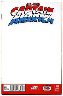 Marvel All New Captain America #1 BLANK Sketch Cover Variant - Remender