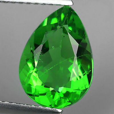 2.85 Ct Great Luster Chrome Green Natural Moldavite Pear Cut Loose Gemstones