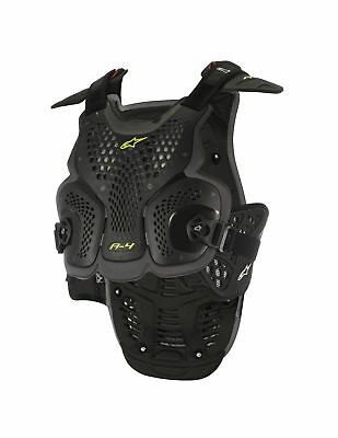 Alpinestars MX/Motocross A-4 Chest/Back Protector Roost Guard (Black/Anthracite)