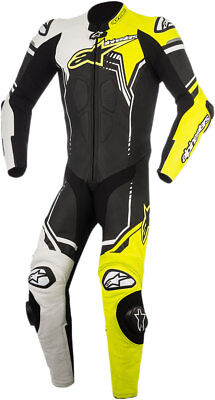 Alpinestars 2018 GP PLUS 1-Piece Race/Track Riding Suit (Black/White/Flo Yellow)