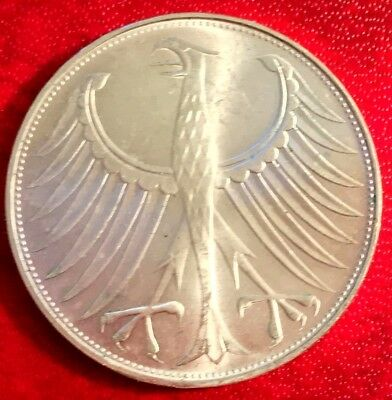 1971 G Germany Proof Silver Coin 5 Mark