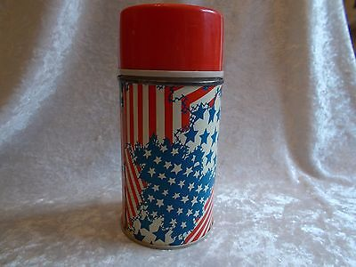 Vintage  King Seeley Stars and Stripes Metal Thermos