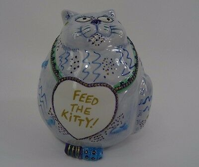 Fitz & Floyd Piggy Bank Cash Critters Feed The Kitty CAT