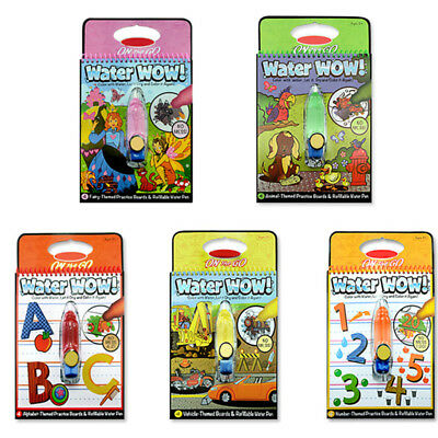 Melissa And Doug Water Wow Animals Alphabet Numbers Paint Children Drawing Board