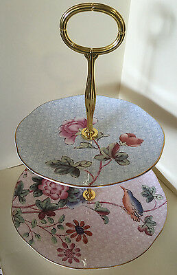 New - Wedgwood 'cuckoo' Two Tiered Cake Stand - In Stunning Gift Box
