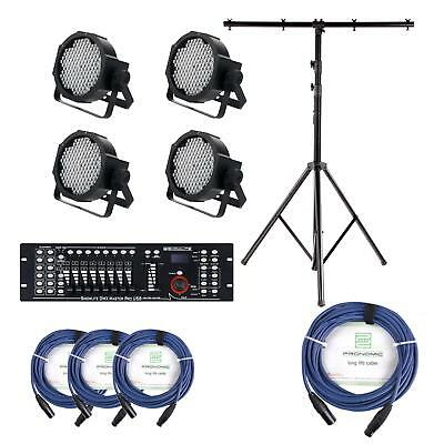 LED Floodlight DJ PA Lighting Effect System DMX Controller USB XLR Cable Stand