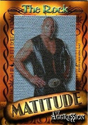 WWE The Rock 2003 Fleer Matitude Picture Card RARE #'d to 50 WWF Wrestling