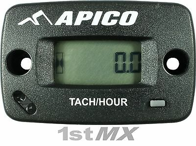 Apico Hour Meter with RPM Display for Motocross MX Bikes Universal Without Mount