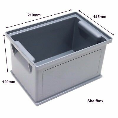NEW 10 x Strong Stacking Small Parts Plastic Storage Containers Bins Bin Boxes