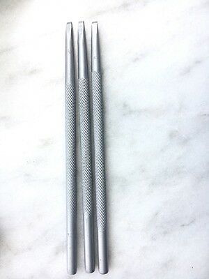 Carbide tips Chisel for stone with knurled handle 4mm - 3pcs